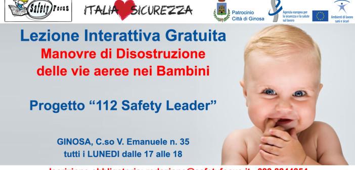 """ILS17 Ginosa – Disostruzione e """"112 Safety Leader"""""""