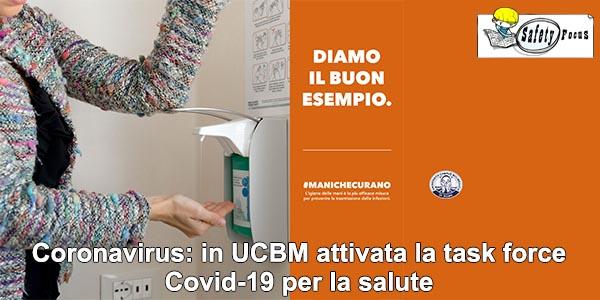 Coronavirus: in UCBM attivata la task force Covid-19 per la salute