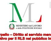 Interpello – Diritto al servizio mensa o sostitutivo per il RLS nel pubblico impiego