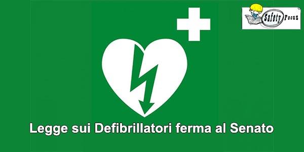Legge sui Defibrillatori ferma al Senato