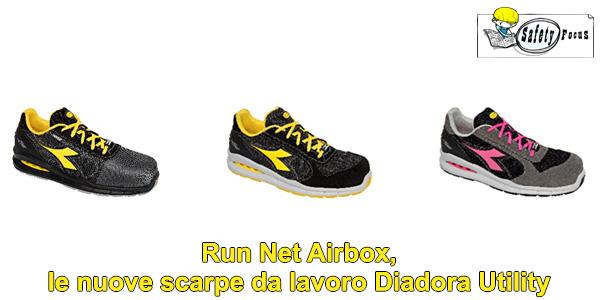 Run Net Airbox, le nuove scarpe da lavoro Diadora Utility
